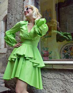 ON SALE 25% OFF Light Green Cotton Summer Dress Extravagant