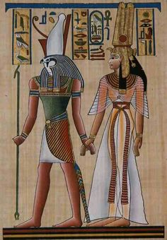 Nefertari and horus
