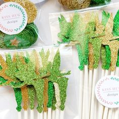Tinkerbell Cupcake Toppers in Emerald Green, Gold, and Apple Green! The perfect accent for your Fairy inspired party!