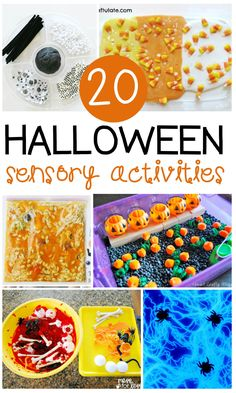 These 20 Halloween sensory activities for kids are so much fun! Perfect for October kids activities in the classroom or home.