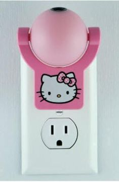 Hello Kitty Pink Night Light Projects Image to Ceiling Wall Floor Auto On Off #Jasco