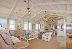 21 Rustic Living Room Furniture Ideas to Warm Up Your Home - The Trending House Beach House Lighting, Beach House Decor, Beach Chic Decor, Chic Beach House, Beach House Furniture, Home Furniture, Home Decor, Patio Interior, Home Interior Design