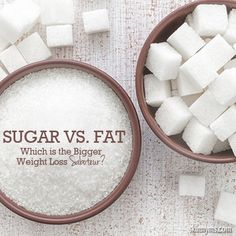 Sugar Vs. Fat, Which is the Biggest Weight Loss Saboteur? #sugar #fat #weightloss #gethealthy