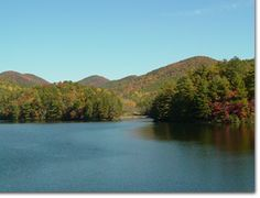 Just outside of Helen Georgia.  There's a great hike to Anna Ruby Falls and an awesome mountain lake with a beach.  At night head to the Lodge and try the trout, you won't regret it, just make sure you have reservations.