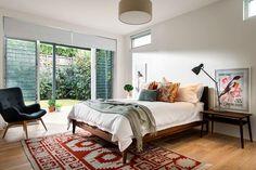 Incredible Eclectic Master Bedroom Design Ideas - Page 18 of 56 Master Bedroom Design, Home Decor Bedroom, Bedroom Designs, Bedroom Ideas, Bedroom Layouts, Mid Century Bedroom, Coastal Bedrooms, Small Bedrooms, Bohemian Bedrooms