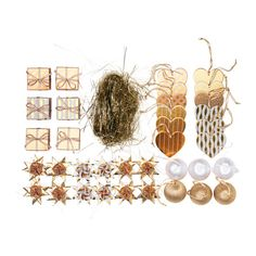 IKEA - VINTERMYS, 37-piece hanging decoration set, Easy to hang up since it comes with ribbons already attached.