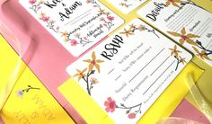 Flower Candy Wedding Invitation Design, ideal for a Spring or Summer wedding that is full of bright and colourful florals!