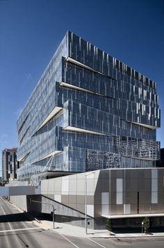 Bourke Street in Melbourne / Melbourne Architecture, Office Building Architecture, Architecture Board, Building Facade, Futuristic Architecture, Building Design, Contemporary Architecture, Interior Architecture, Architects Melbourne