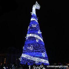 Big blue Christmas trees manufacturer | iChristmasLight