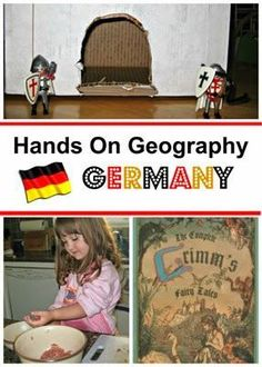 Germany preschool or elementary school unit - play ideas, German recipes, additional resources for a country study on Germany. World Geography Lessons, Hands On Geography, Geography Activities, Teaching Geography, Preschool Social Studies, Preschool Lessons, Germany For Kids, Around The World Theme, German Recipes, Germany, Fun Activities, Continents, Preschool
