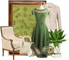 """""""Green with Envy"""" by desert-diva on Polyvore"""