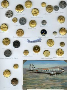 Pegs Button Blog--my card of Aviation buttons