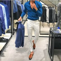 Ideas Sport Style Street New Balance For 2019 Formal Men Outfit, Casual Wear For Men, Casual Outfits, Classy Outfits, Formal Dresses For Men, Look Fashion, Trendy Fashion, Fashion Sale, Fashion Outlet