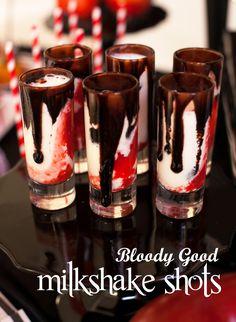 Twilight Bloody Good Vampire Milkshake Shots on http://frogprincepaperie.com
