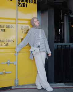 outfit plus size Hijab Casual, Ootd Hijab, Hijab Chic, Casual Outfits, Modern Hijab Fashion, Street Hijab Fashion, Hijab Fashion Inspiration, Muslim Fashion, Hijab Stile