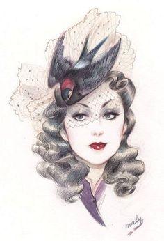 millinery Fashion Illustration