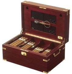 Completing Your Poker Room - the elegant Davidoff No. 1 Thuya Humidor, ranked A+ by Cigar Aficionado