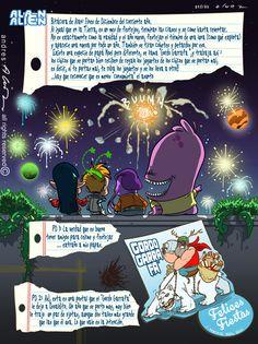 Alan Alien N°17 - Publicada en la revista infantil PIN - Guion & Arte (realizado de forma digital)