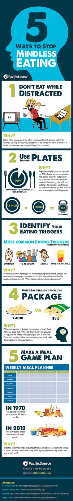 Infographic: 5 Ways To Stop Mindless Eating