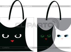 Сумки с котами | Векторный клипарт | ID 3284907