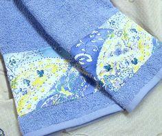 JAMAICA BLUE Paisley 1 Set 2-Custom Decorated Blue by Sew1Pretty