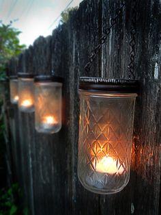 Mason Jar Lanterns   Brown   Set Of 6 Or 8   Ball Or Quilted Jars