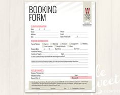 reservation form template