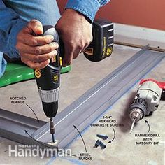 Tools and techniques for building basement and partition walls with steel studs.