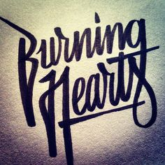 Listening to Burning Hearts in the studio while working on some new apparel designs... #brushpen #script #calligraphy #burninghearts #handlettering