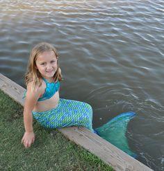 What an adorable mermaid!