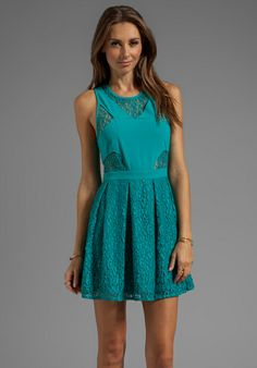 STYLE STALKER B-Ball Lace Dress in Teal - Dresses
