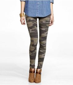 CAMOUFLAGE STRETCH LEGGING