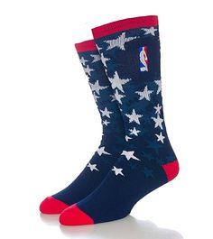 23647758512 Amazon.com: For Bare Feet Nba Veterans Day Crew Socks Navy L: Clothing