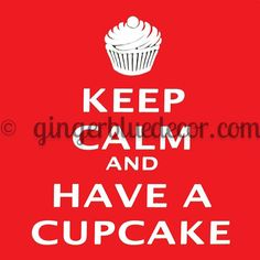 KC-059 Red  keep calm cupcake