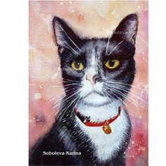 Personnalisé Portrait Portrait animalier par SobolevaArt sur Etsy