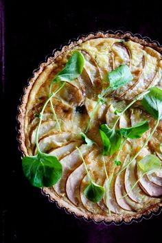 swiss chard, pear and gruyere tart from  cannelle et vanille book. Wish I could get this