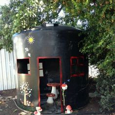 Water tank as cubby house