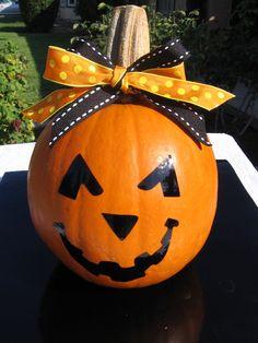 Halloween Pumkpkin Face Vinyl Decal  Home by santasgiftshoppe, $4.50