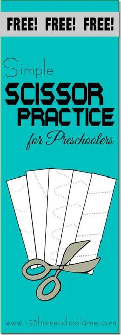 123 Homeschool 4 Me has a FREE Scissor Cutting Practice Pack. These provide much needed practice for preschoolers in fine motor skills. Click h