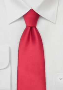 Solid Bright Red Mens Tie