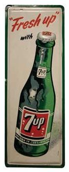 """Vintage 7UP Soda Sign 48"""" x 18"""""""