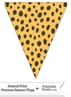 Here is a cute cheetah print pennant banner flag you can use to decorate your home or classroom for a birthday celebration. This cheetah print pennant banner flag is decorated with a brown Cheetah Birthday, Cheetah Party, Safari Theme Birthday, Snoopy Birthday, Jungle Theme Parties, Jungle Party, Safari Party, Welcome Banner Printable, Animal Print Classroom