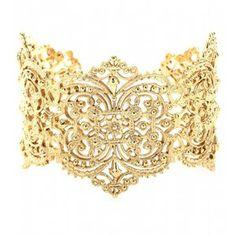 IAM by Ileana Makri Chantilly Lace Cuff Bracelet