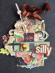 Scrapbooking tag, layers, love ,skull, cardmaking