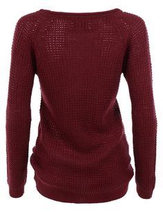 This casual round neck pullover waffle knit sweater top is a must have for all year round. Made from a soft material, this knit sweater will give you all day comfort. The side slits gives this pullove Casual Sweaters, Cool Sweaters, Pullover Sweaters, Sweaters For Women, Winter Fashion Outfits, Fall Winter Outfits, Sweater Fashion, Summer Outfits, Cold Weather Fashion