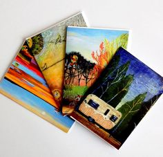 4 Notecards  Nature Series by cathynichols on Etsy, $16.00