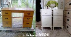 Here is a list of the steps taken to turned a desk into a pair of nightstands. Removed the top for another project - which...