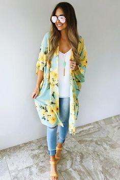 I've Got Sunshine Kimono: Multi