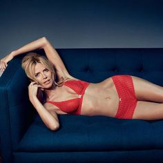 Heidi Klum Intimates -- Dreamtime's fiery red lace