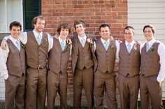 chic classic men's attire, pink and blue rustic chic Southern wedding, Katelyn James Photography